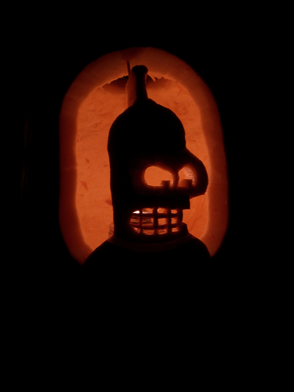 Bender Pumpkin Light Dark